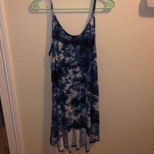 tie-dye high-low dress